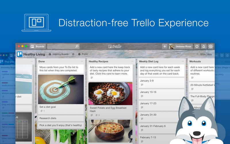 Paws for Trello Screenshots