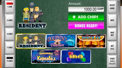 Screenshot 1 Игровые автоматы Резидент