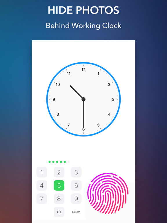 Secret Clock - Hide Photo, Video, GIF Screenshots