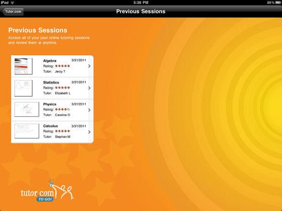 Tutor.com To Go iPad Screenshot 5