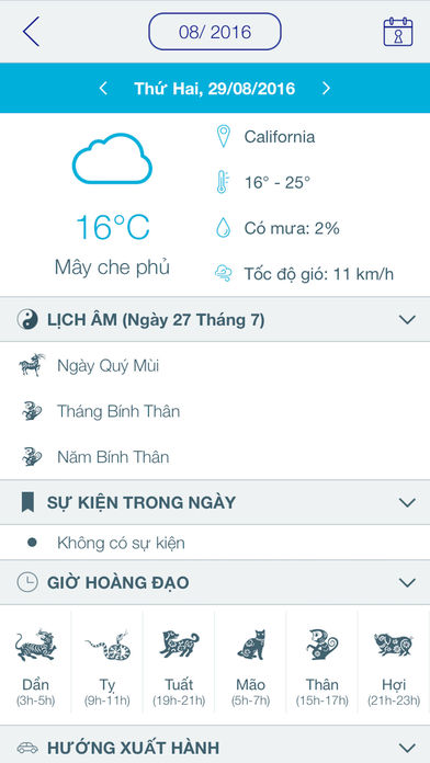 Lịch Vạn Niên 2017 - Lịch Âm Apps free for iPhone/iPad screenshot