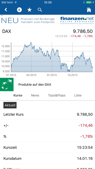 Finanzen.net iPhone Screenshot 2