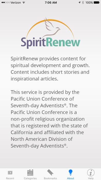 SpiritRenew iPhone Screenshot 1