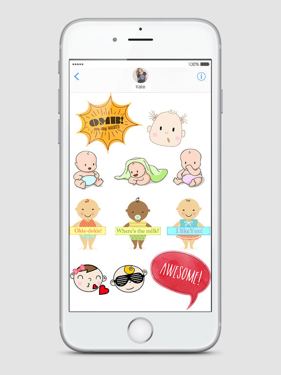 Babies - Baby Emojis & Milestone Stickers Screenshots