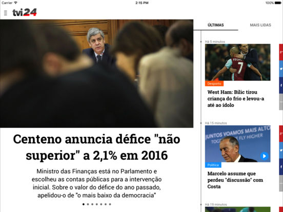 TVI24 iPad Screenshot 1