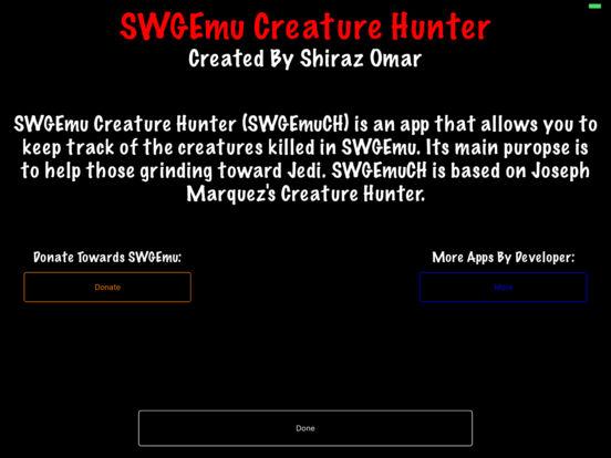 SWGEmu Creature Hunter iPad Screenshot 4