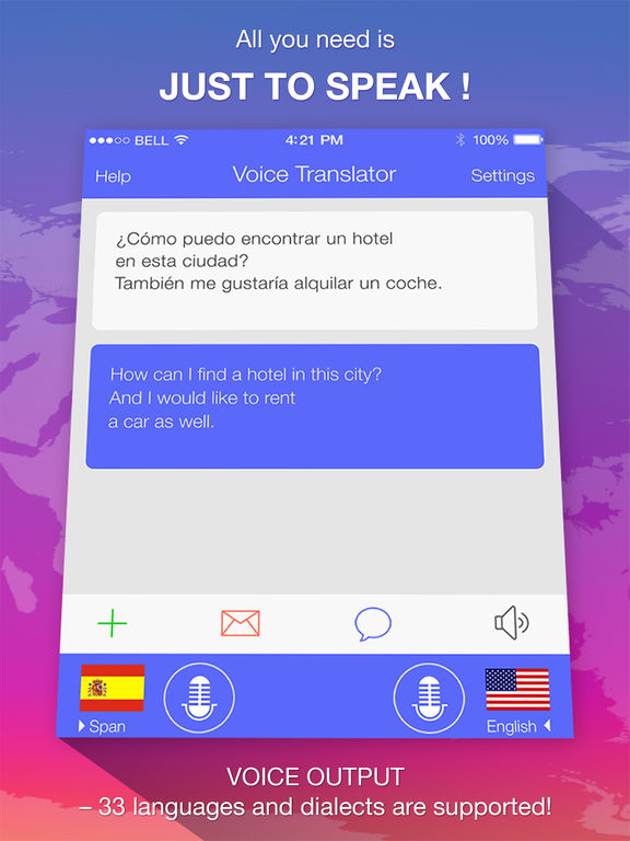 Voice Translate PRO - speech & text translator Screenshots
