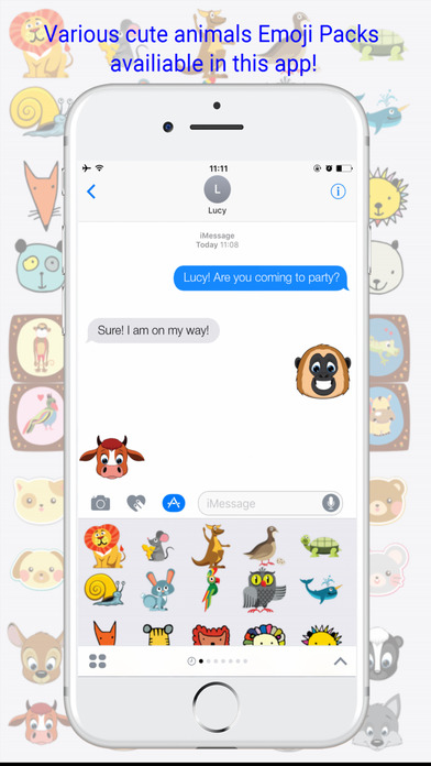 Cute Animals Emojis Keyboard screenshot 2