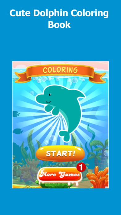 Coloring Dolphin Game screenshot 1