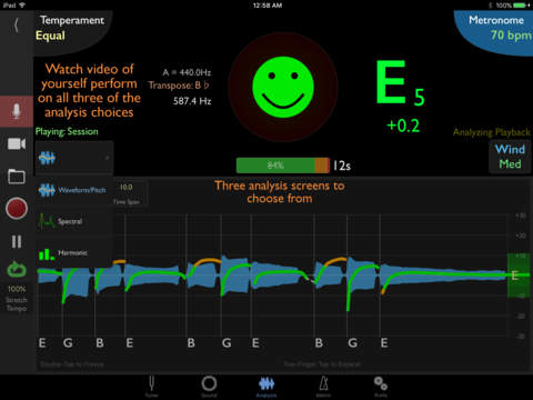 TonalEnergy Tuner & Metronome screenshot 2