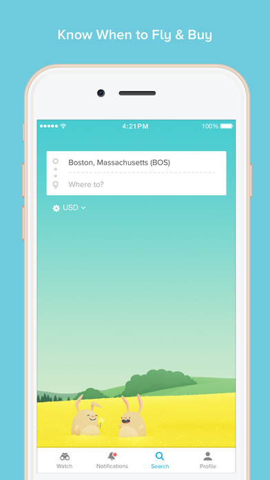 Hopper - Predict, Watch & Book Flights Screenshot