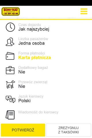 Echo Taxi Katowice screenshot 3