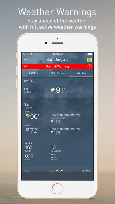 The weather network on the app store for Application iphone temperature interieur