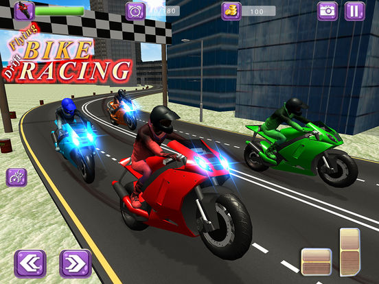 Flying Drift Bike Racing screenshot 5