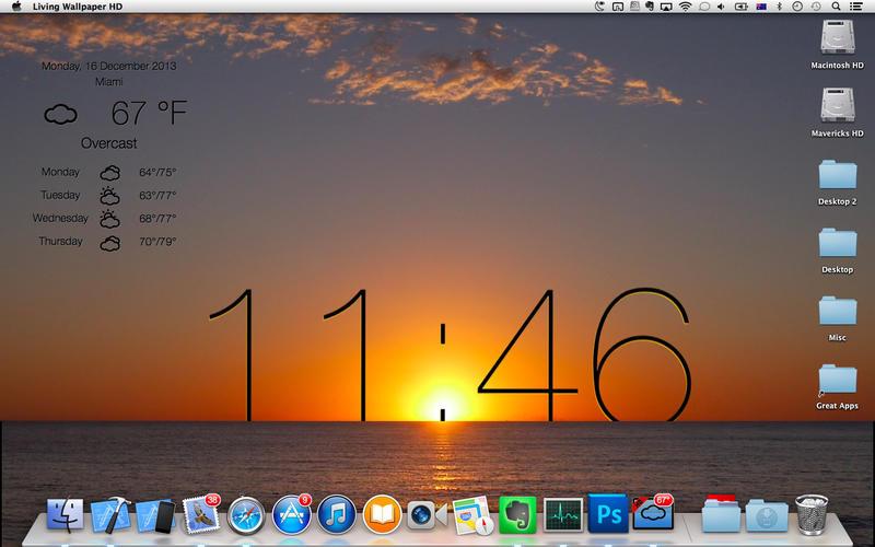 Screenshot #4 for Live Wallpaper HD+: desktop weather & screensaver