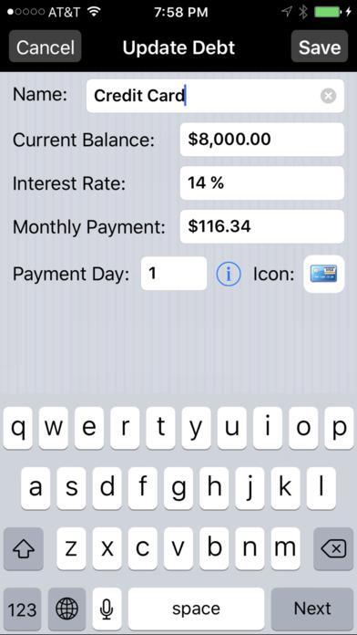 Debt Payoff Assistant screenshot 3