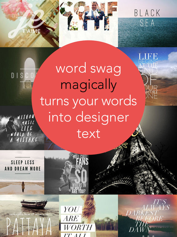 Word Swag - Cool fonts, typography generator, creative quotes, and text over pic editor! - 截图 1