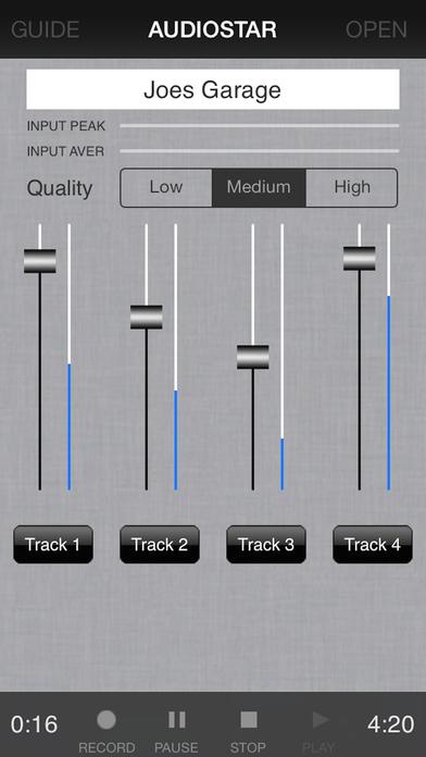 Audiostar Multitrack Recording Mixer iPhone Screenshot 2