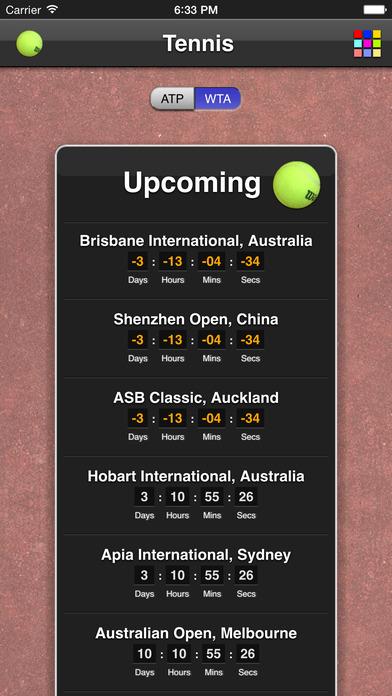 Tennis Matches iPhone Screenshot 2