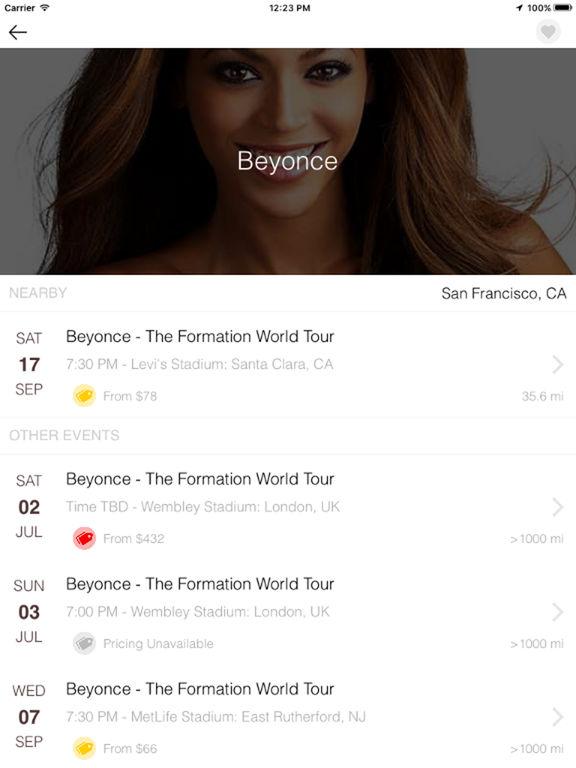 Screenshots of TickPick: No Fee Tickets | Sports, Concerts, Shows for iPad