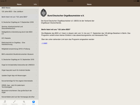 Orgel iPad Screenshot 3