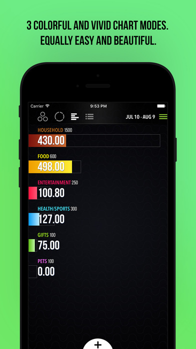 eTaler — Smart & Beautiful Expense Tracker Screenshots