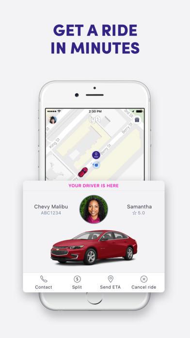 Screenshots of Lyft for iPhone
