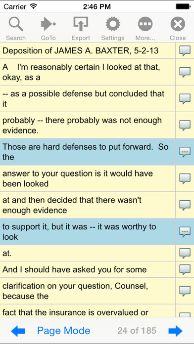 Court Reporters Clearinghouse iPhone Screenshot 5