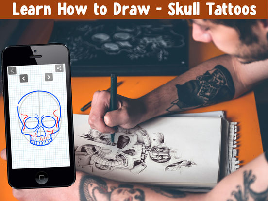 App shopper learn how to draw skull tattoos education for Learn to do tattoos