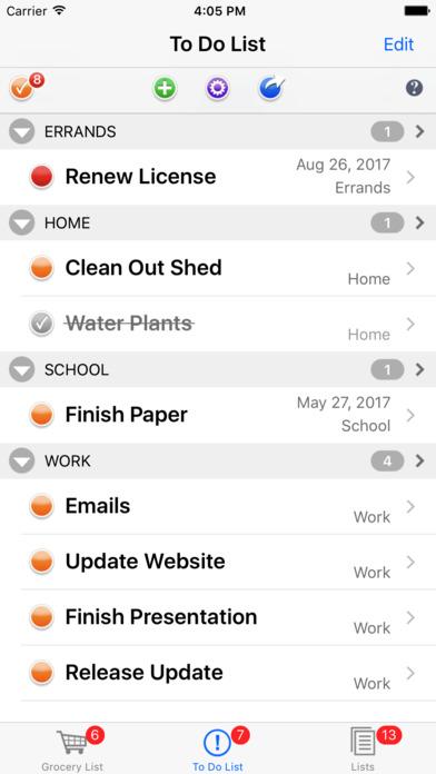 List Omni Lists iPhone Screenshot 2