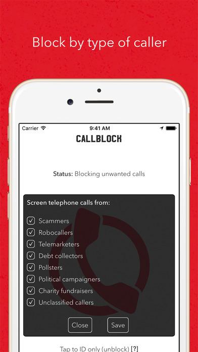 Callblock: Adblock for unwanted calls app image
