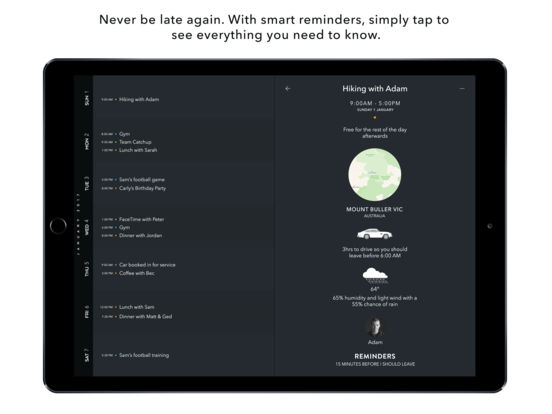 Timepage for iPad – Calendar by Moleskine Screenshots