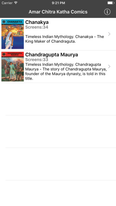 Chanakya And Chandragupta Maurya Double Digest - Amar Chitra Katha Comics iPhone Screenshot 2