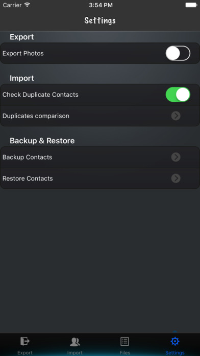 Export My Contacts Screenshots