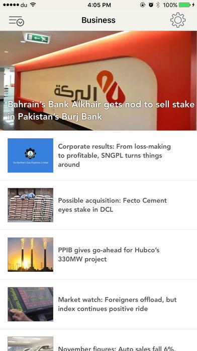 The Express Tribune iPhone Screenshot 2