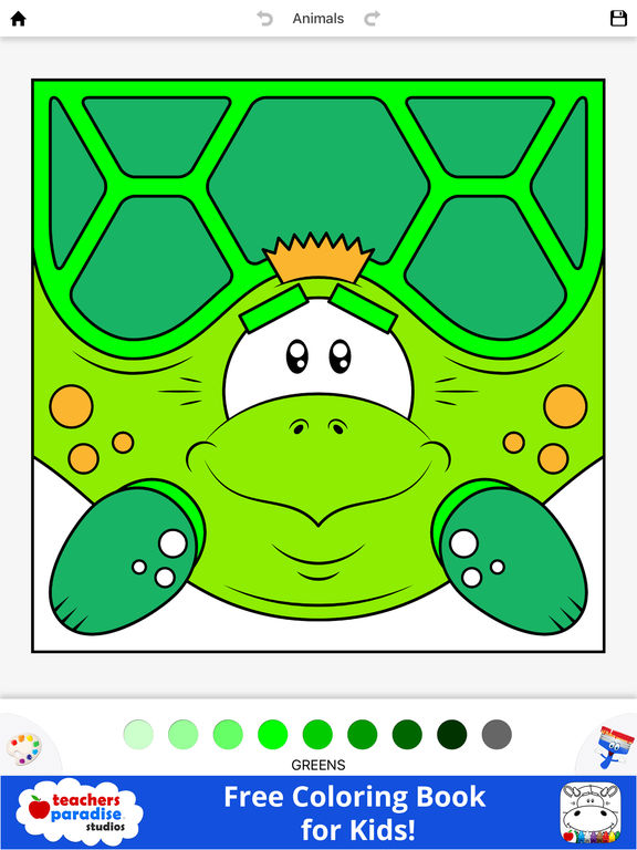 App Shopper Coloring Book For Kids Animal Square Heads