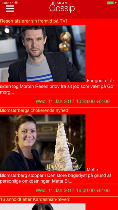 Danmarks radios kanaler og overskrifter Screenshots
