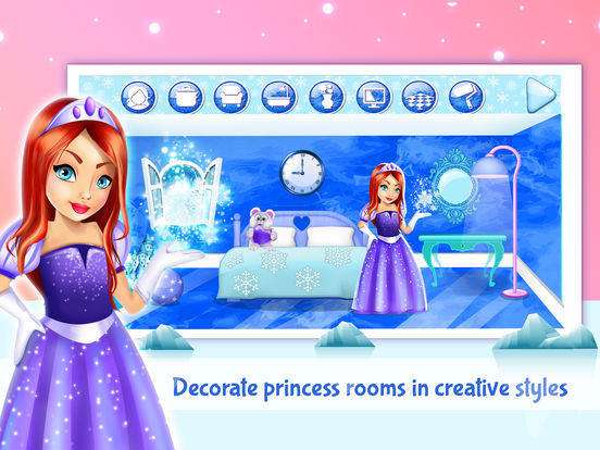 app shopper ice princess doll house design game s for