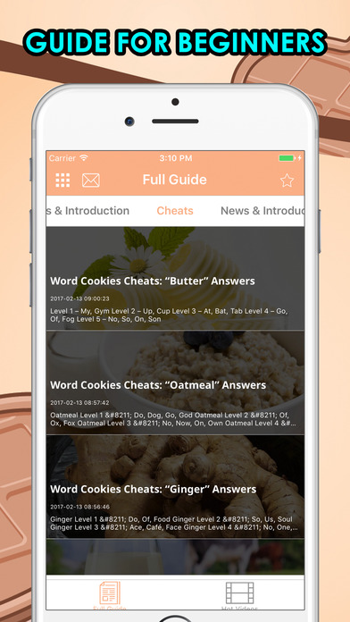 Cheats for Word Cookies! Apps free for iPhone/iPad screenshot