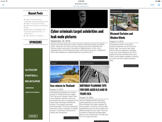 AUSTRALIAN NEWSPAPERS & MAGAZINES iPad Screenshot 1