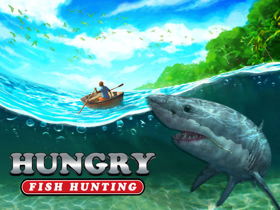 App shopper hungry fish hunting shark spear fishing for Shark fishing games