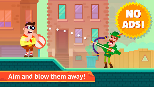 Bowmasters (Ad Free) - Top Multiplayer Bowman Game Screenshot