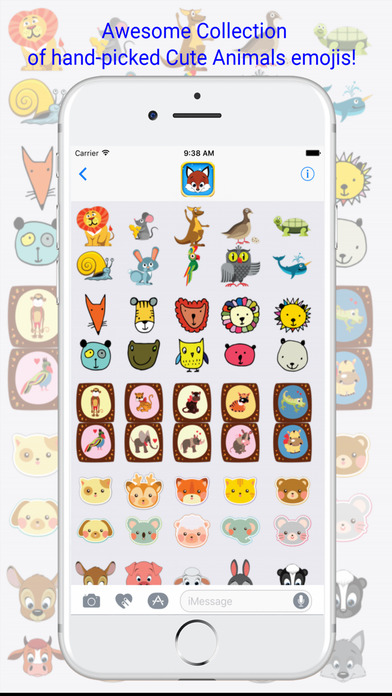 Cute Animals Emojis Keyboard screenshot 3
