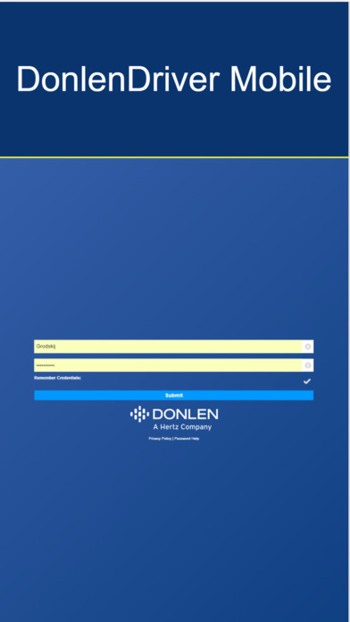 DonlenDriver Mobile iPhone Screenshot 1