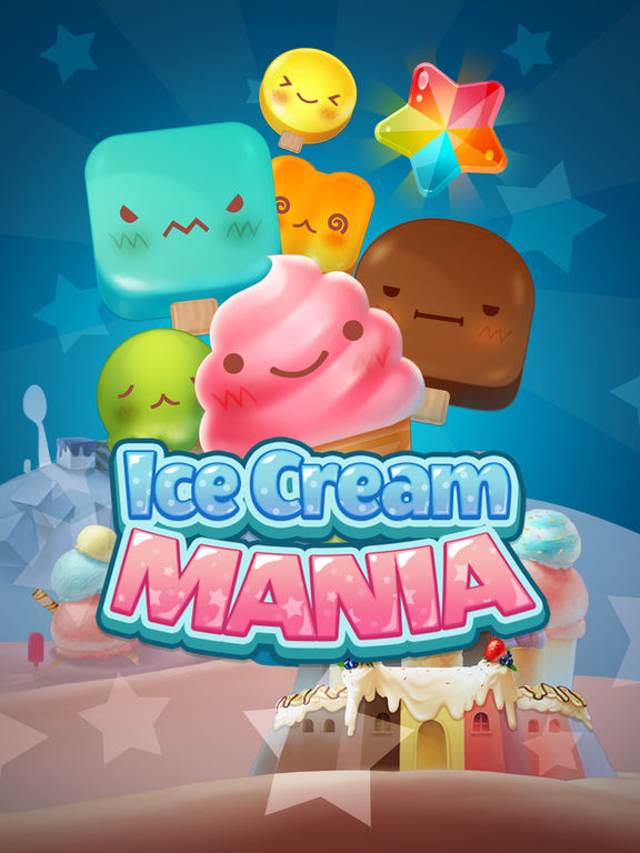 Игра Ice Cream Mania : Match 3 Puzzle