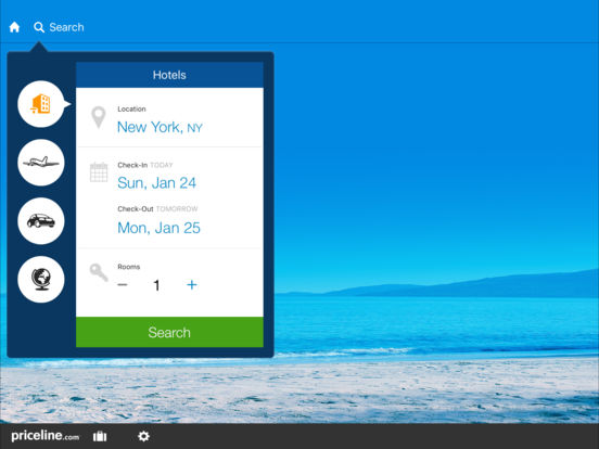 priceline Hotel & Car Negotiator iPad Screenshot 1