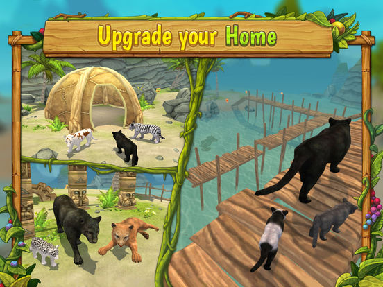 Panther Family Sim - Wild Animal Jungle Simulatorscreeshot 4