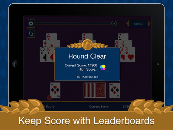 Three Peak Solitaire iPad Screenshot 5
