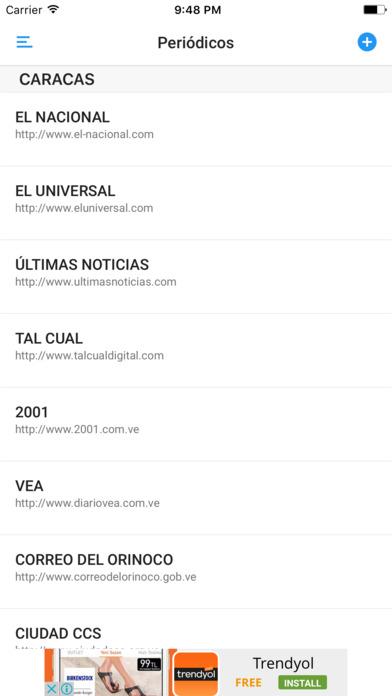 PERIÓDICOS DIARIOS DE VENEZUELA iPhone Screenshot 1