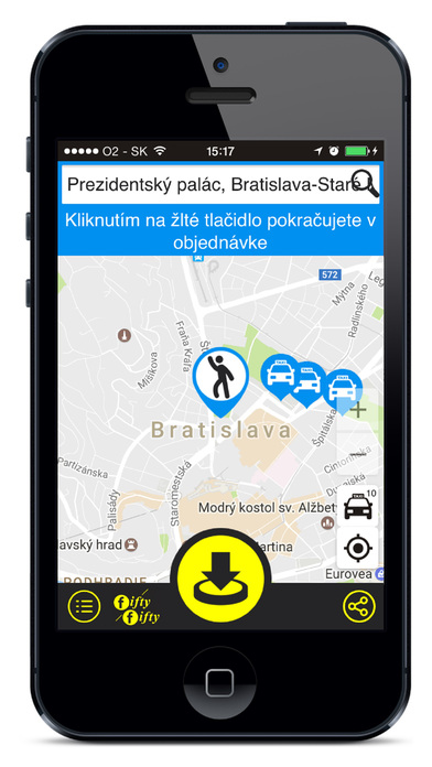 Fifty Fifty Taxi Bratislava screenshot
